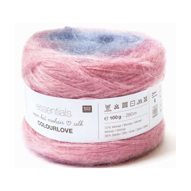 Essentials super kid mohair silk Colourlove fra RICO