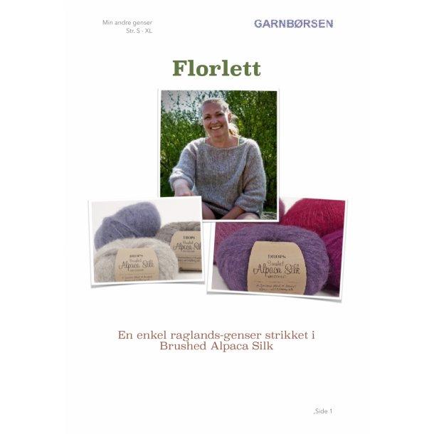 Florlett - enkel raglansgenser