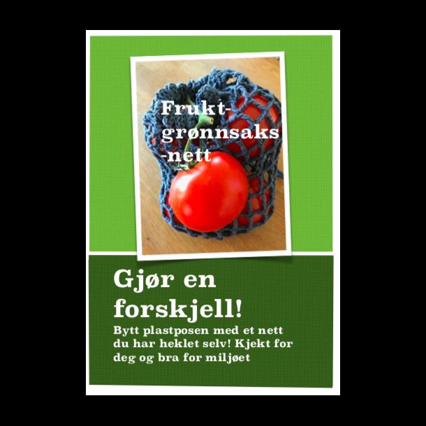 Heklepakke - fruktnett 100% resirkulert bomull