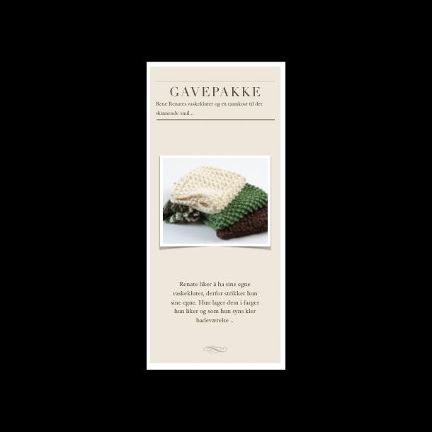 Gavepakke - Rene Renates vaskekluter